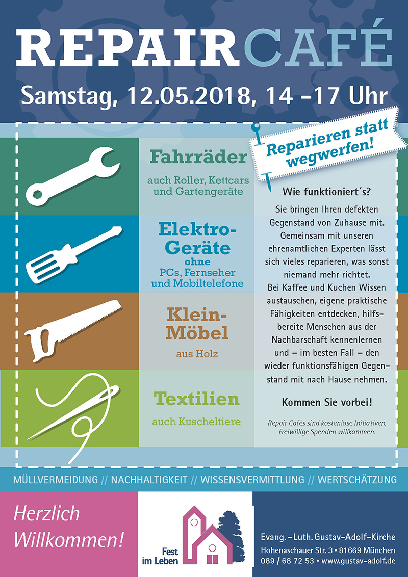 Repair-Cafe in der Gustav-Adolf-Kirche